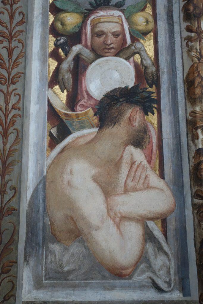 Fresco detail from San Maurizio in Milan